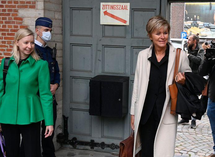 Me Christine Mussche (à droite) représente les neuf femmes qui se sont constituées parties civiles.