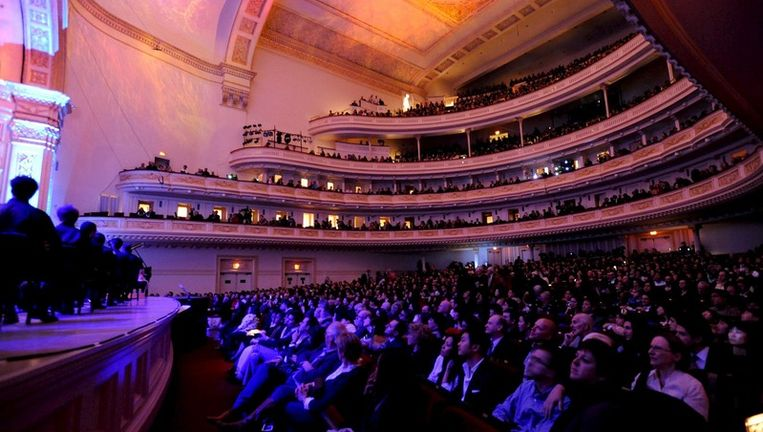 Archieffoto van het publiek in Carnegie Hall. Foto EPA Beeld