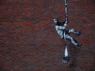 Mogelijk werk van Banksy opgedoken op muur voormalige gevangenis in Britse stad Reading