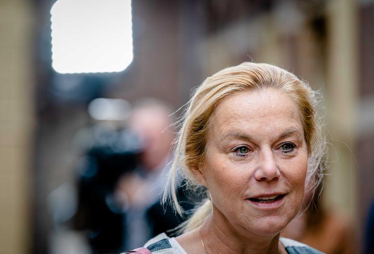 Demissionair Minister Sigrid Kaag van Buitenlandse Zaken (D66) komt aan op het Binnenhof voor de wekelijkse ministerraad.  Beeld ANP
