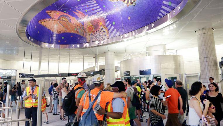 Het nieuwe metrostation op 34th Street en 11th Avenue in New York. Beeld AP