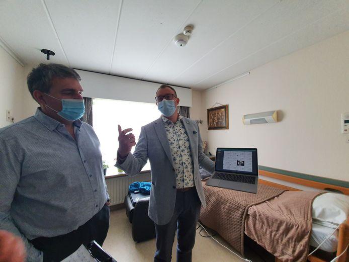Het woonzorgcentrum Prinsenhof installeert slimme sensoren die het verzorgend personeel alarmeren wanneer een bewoner bijvoorbeeld ongewoon lang op de badkamer blijft.