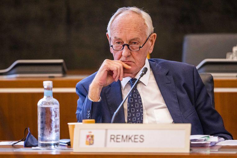 Johan Remkes, waarnemend gouverneur van Limburg, tijdens Provinciale Statenvergadering. Beeld ANP