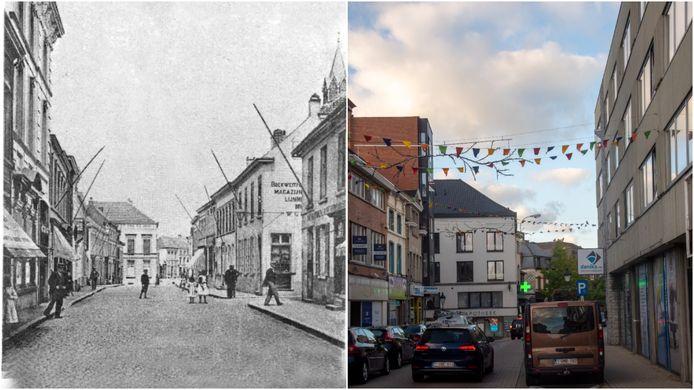 De 'Hoogstraat', vroeger en nu