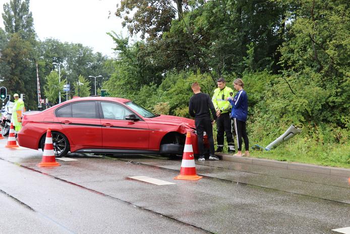 De bestuurder was onderweg naar Bunnik toen hij de macht over het stuur verloor.