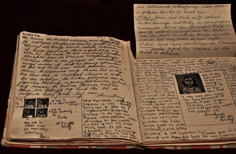 Het dagboek van Anne Frank Beeld Getty Images