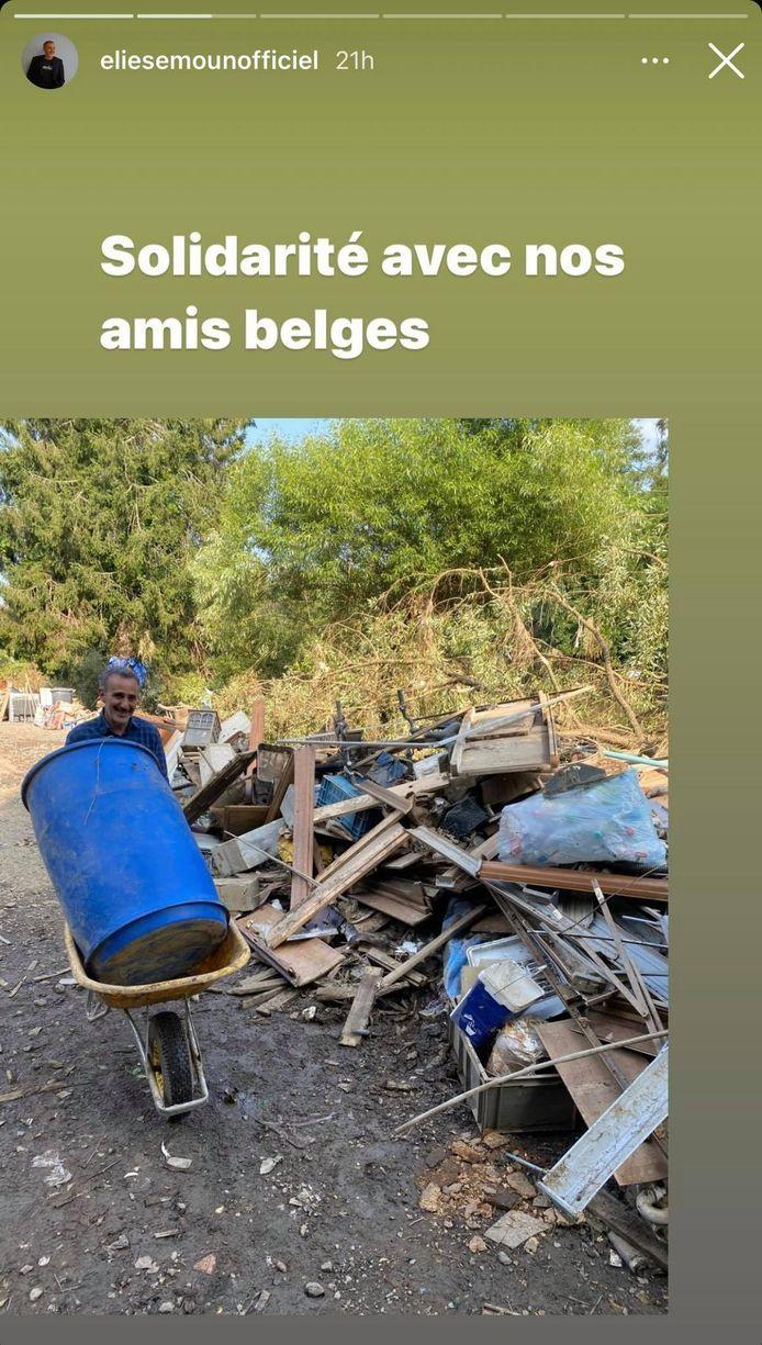 Elie Semoun a aidé les sinistrés belges