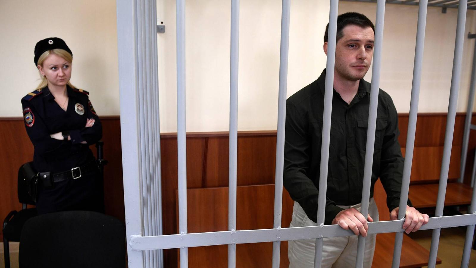 Trevor Reed tijdens een rechtszitting in maart