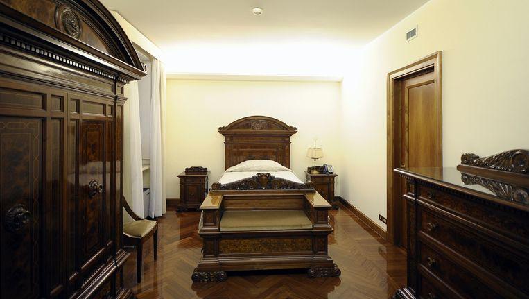 De suite van de paus in het Domus Santa Marta. Beeld AP