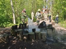 Populaire leefkuil in het Beverbos door brand verloren gegaan