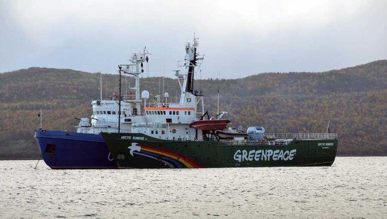 Greenpeace-schip Arctic Sunrise. Beeld epa