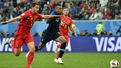 Mbappé speelde tegen Rode Duivels met drie ontwrichte ruggenwervels