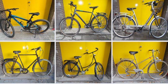 De fietsen werden uitgestald op de Facebookpagina van de Gentse Flikken.