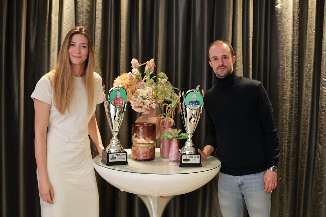 Beste speelsters en beste speler Silke van Avermaet en Stijn D'Hulst.