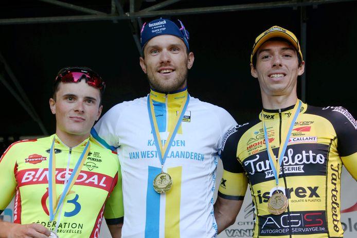 Op het podium kon Bert Van Lerberghe, West-Vlaams profkampioen, al lachen. Kenny Molly pakte het zilver, Gianni Marchand brons.