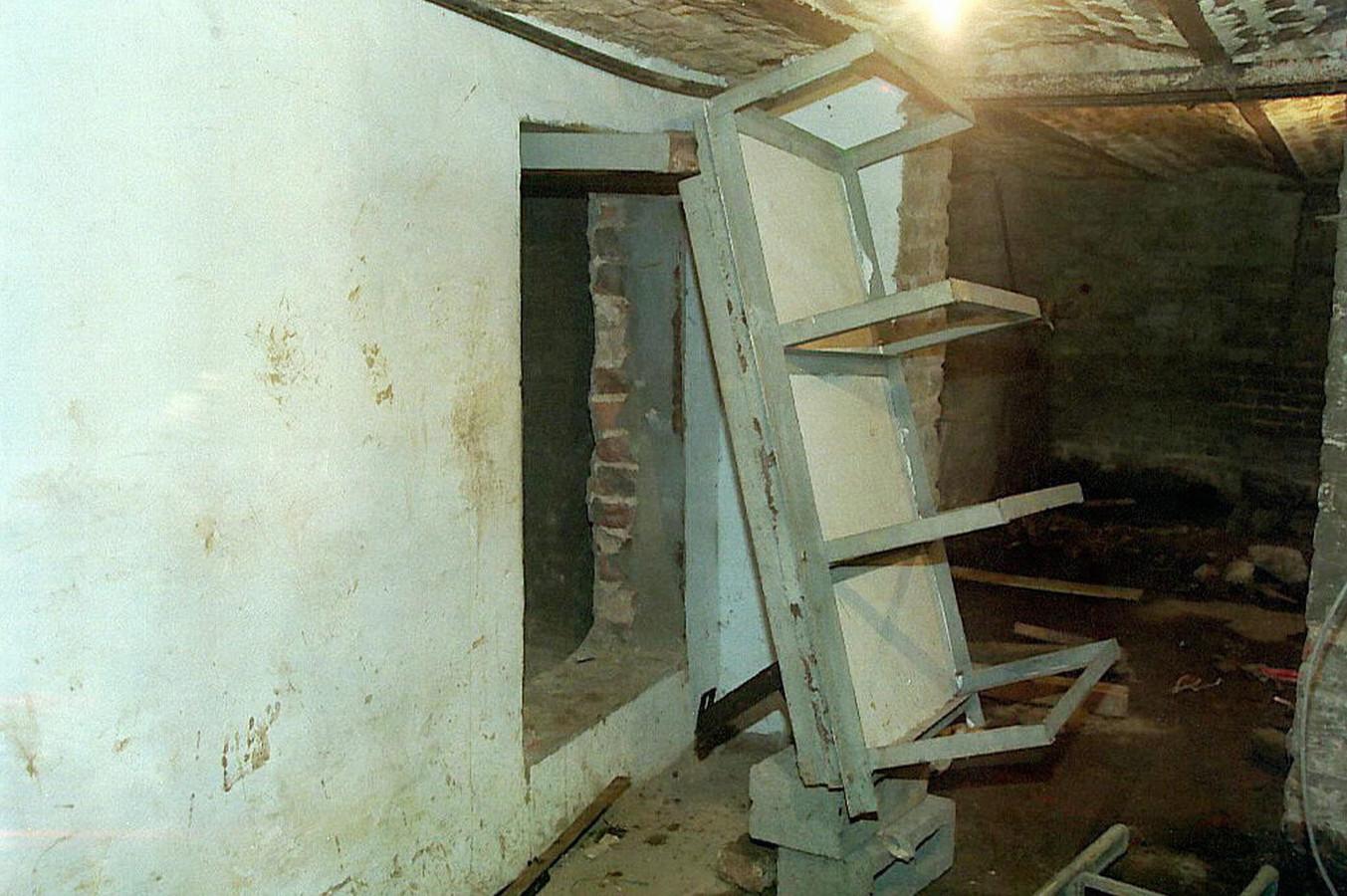 La cache de la maison de Marc Dutroux à Marcinelle