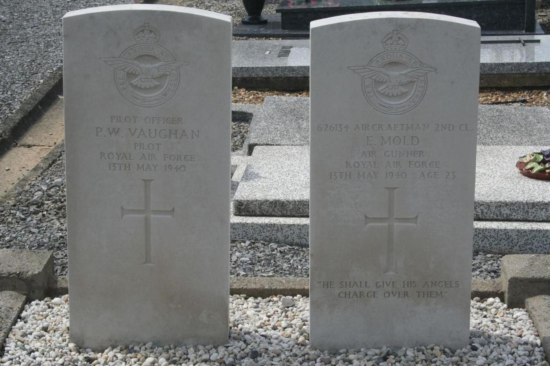 De graven van de twee piloten
