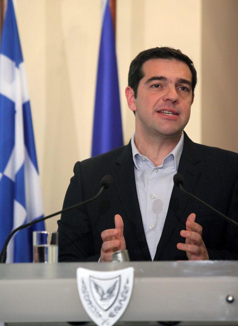 De nieuwe Griekse premier Alexis Tsipras. Beeld EPA