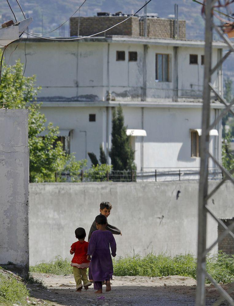 De compound in Pakistan waar Osama bin Laden zich verschanst had.