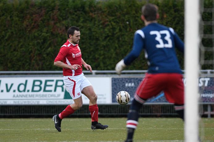 Barry Grevengoed was met twee goals erg belangrijk voor Rood-Wit.