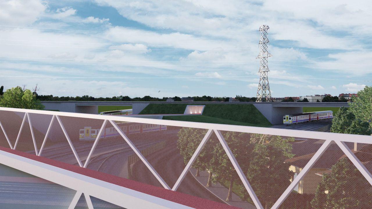 Een toekomstbeeld van de fietsbrug in Lier