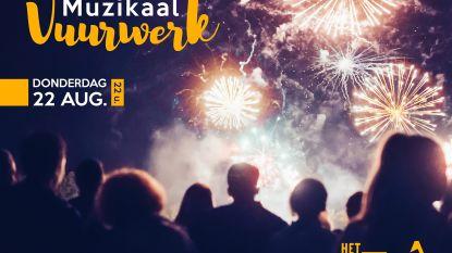 Muzikaal vuurwerk op 22 augustus houdt rekening met de dieren