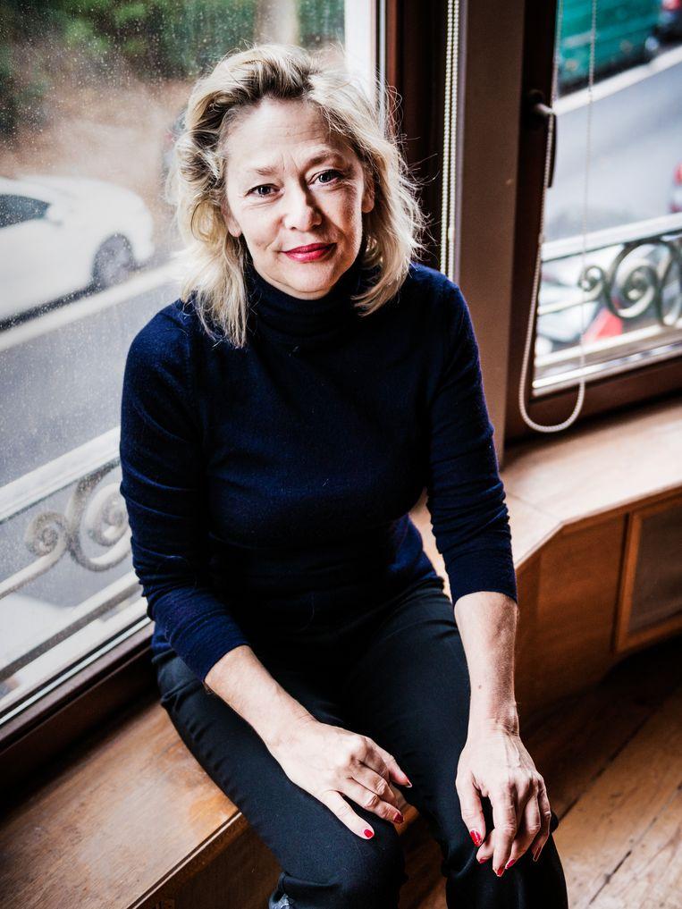 Sophie De Schaepdrijver: 'We moeten de vraag durven te stellen wat er moet gebeuren bij een invasie als we 'nooit meer oorlog' hanteren als motto.' Beeld Geert Braekers