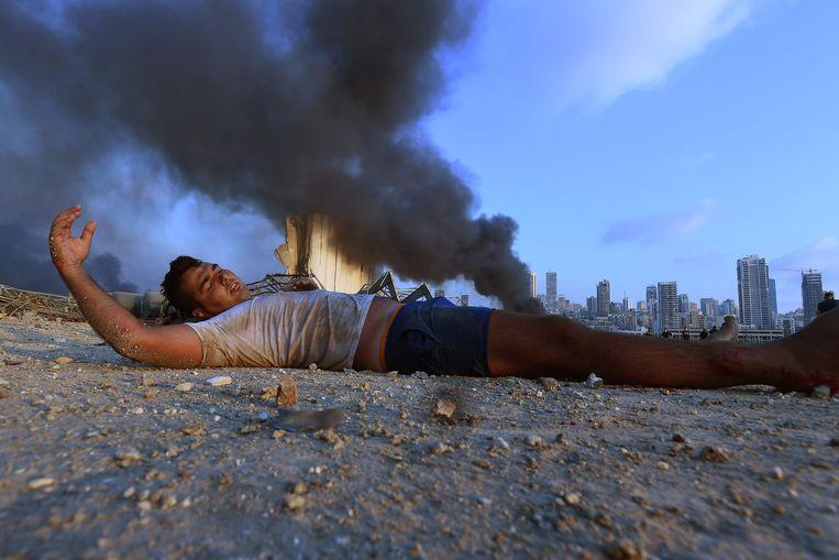 Het aantal gewonden is vastgesteld op 5.000, maar blijft oplopen. Beeld AFP