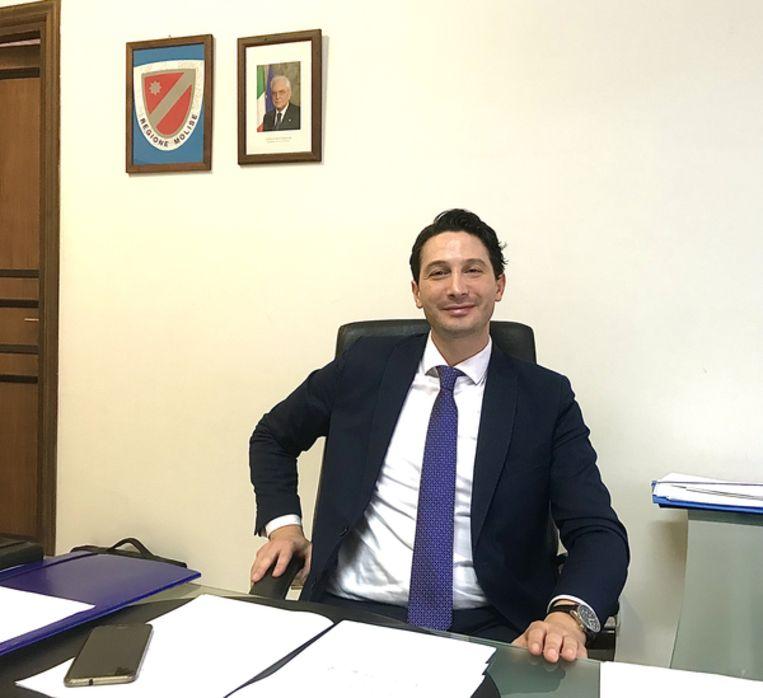 Regioraadslid Antonio Tedeschi van de regio Molise.   Beeld