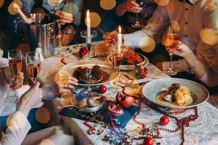 Uit eten met kerst