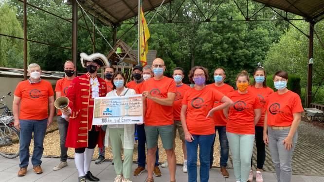 Benefiet '100 kilometer rond Ename' levert 5.000 euro op voor Kinderkankerfonds