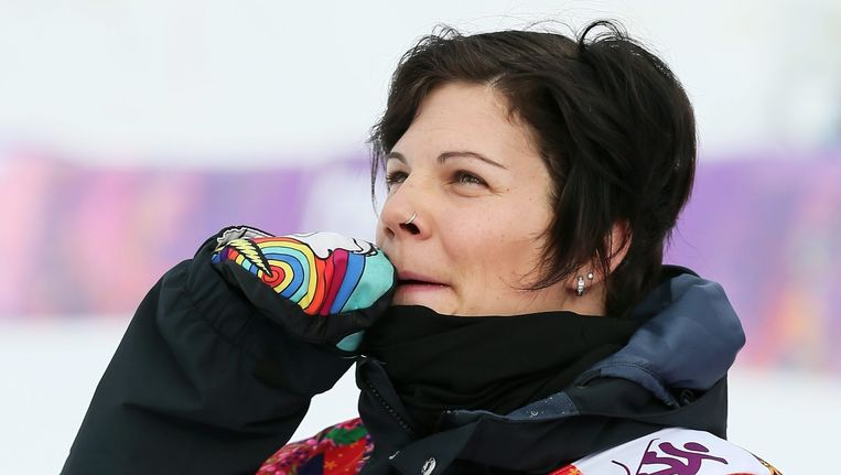 Cheryl Maas tijdens de Winterspelen van Sotsji in 2014. Beeld anp