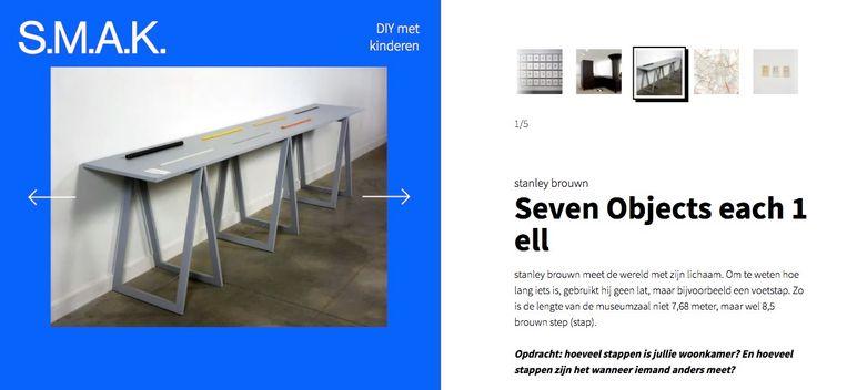 De afgelopen weken doken medewerkers van het S.M.A.K. in Gent in de collectie op zoek naar inspiratie voor ouders om hun kinderen weg te houden van een scherm. Beeld RV