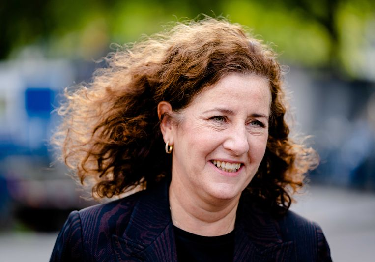 Demissionair minister Ingrid van Engelshoven van Onderwijs, Cultuur en Wetenschap (D66). Beeld ANP