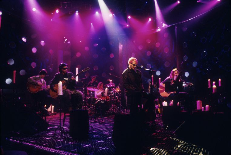 Alice In Chains tijdens MTV Unplugged.  Beeld Getty Images