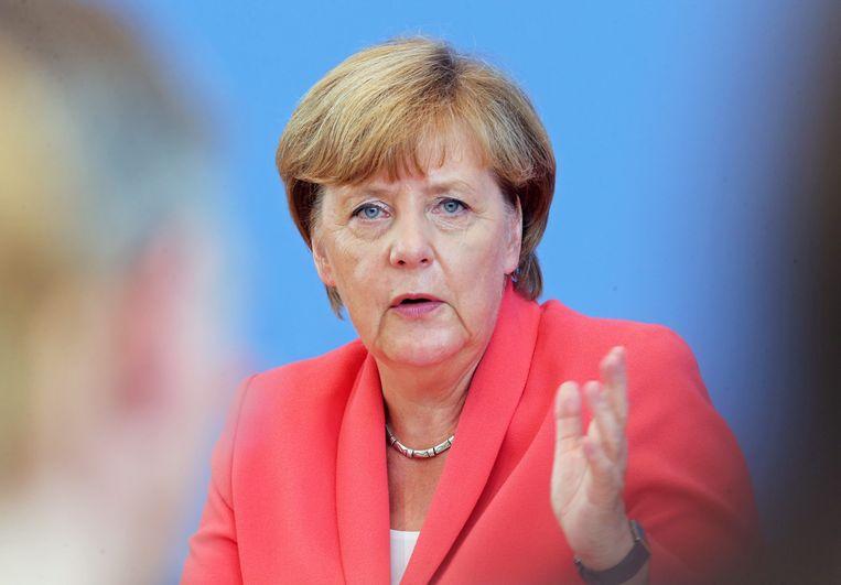 De regering-Merkel is nooit enthousiast geweest over de resolutie van de Bondsdag. Beeld epa