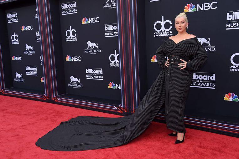 Christina Aguilera tijdens de Billboard Music Awards. Beeld null