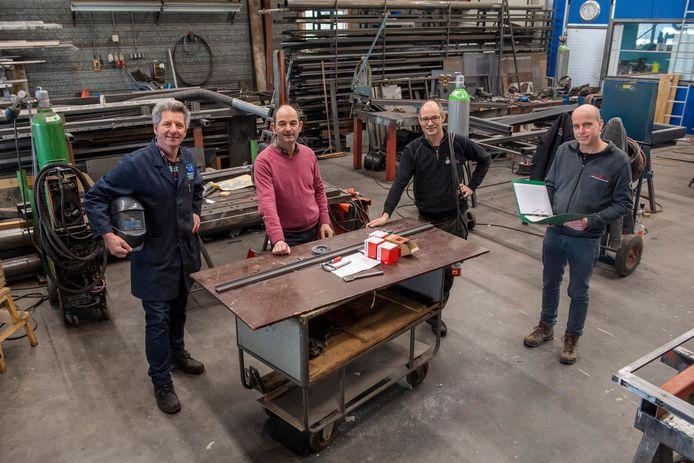 De vier samenwerkende ondernemers v.l.n.r. Johan Blijenberg (BIS), Jan van der Heijden (Hebema), Henry van der Spek (Hematech) en Nico Dernison (Technico).