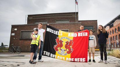 Vlag 'Engelse stijl' kondigt WK aan Dok Noord aan