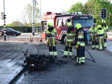 Motor door brand verwoest in Nijmegen