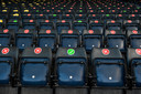 In Hampden Park Stadium in Glasgow ga je niet zomaar zitten waar je wil.