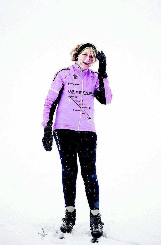 Ingrid Munneke-Dusseldorp, zonder muts: 'Dan zweet ik te snel.' FOTO © REYER BOXEM Beeld