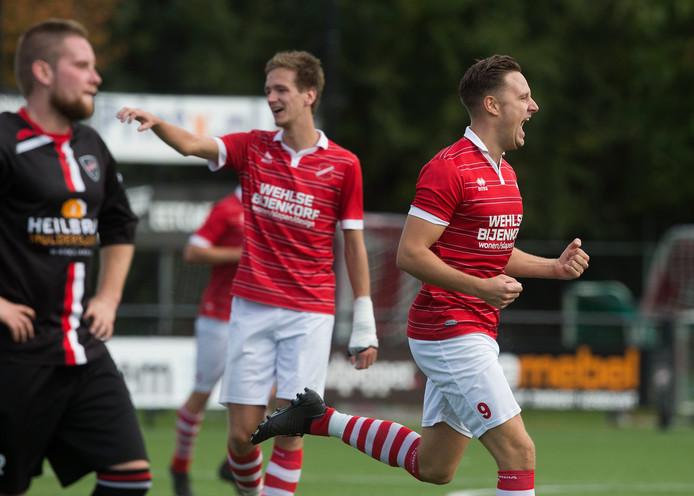 Niels Meijer (rechts) scoorde voor Concordia Wehl.