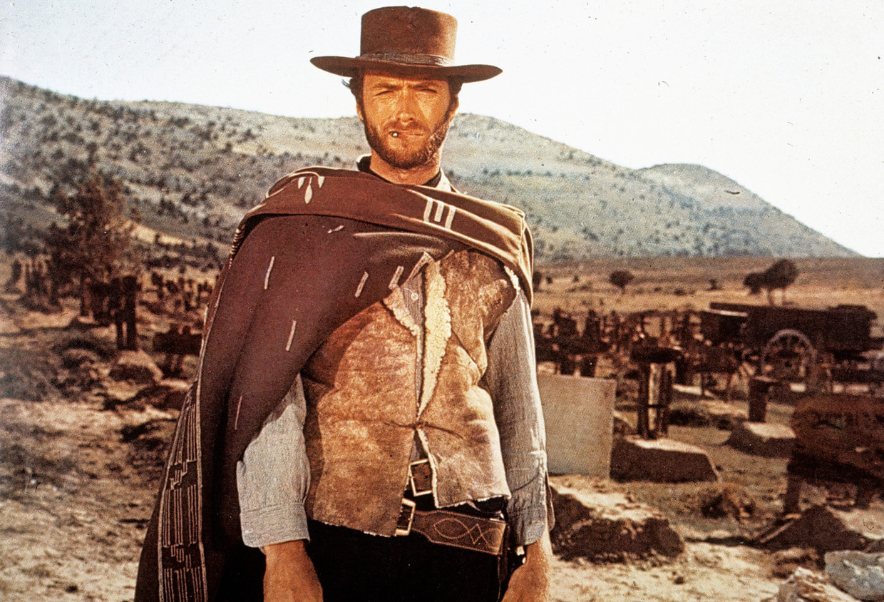 Clint Eastwood in 'The Good, The Bad and the Ugly'. Beeld United Artists