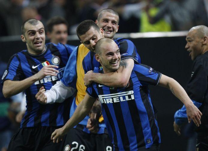 Sneijder vond zijn goeie voeten terug bij Inter Milaan.