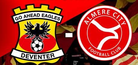 LIVE | GA Eagles met verwachte basisploeg in topper tegen Almere City