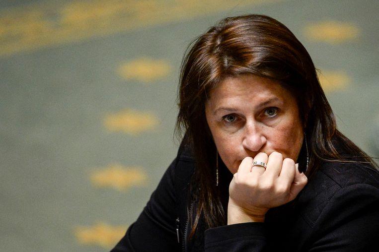 Minister van Mobiliteit, Jacqueline Galant (MR). Beeld BELGA