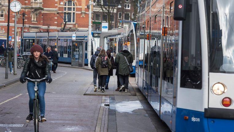 Door de stroomstoring van 9 maart stonden ook de trams stil. Beeld anp