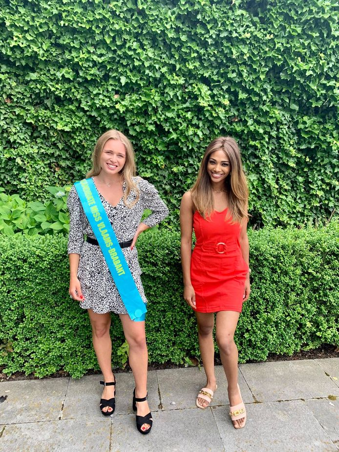 Tatjana op de foto met huidig Miss België Kedist Deltour.