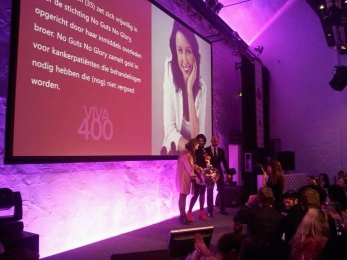Ellen Gerritsen, samen met Humberto Tan, bij de Viva 400.